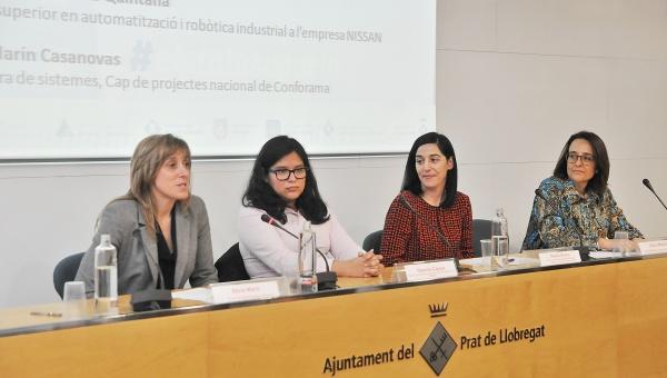 """Taula rodona de la jornada """"Dona i indústria"""" (5 de març de 2019)"""