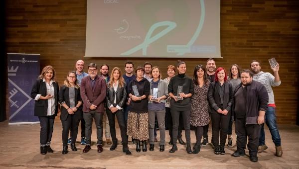 Persones guanyadores i amb mencions especials als premis El Prat Emprèn 2019
