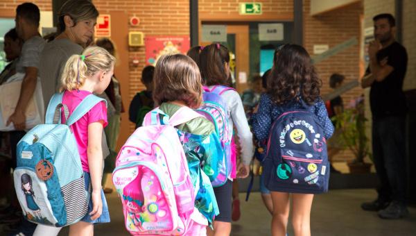 Inici del curs escolar a l'Escola Sant Jaume 2017 (imatge d'arxiu)