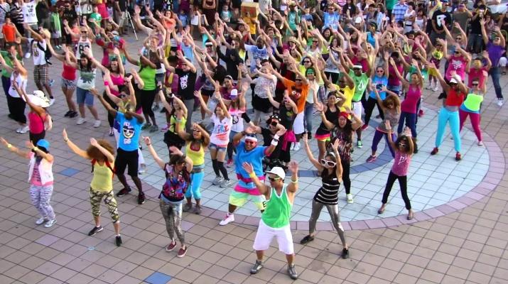 Zumba Flashmob Ball
