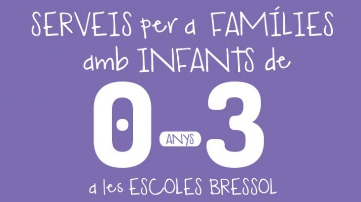 Imatge gràfica campanya dels Serveis per a famílies amb infants de 0 - 3 anys, 2018