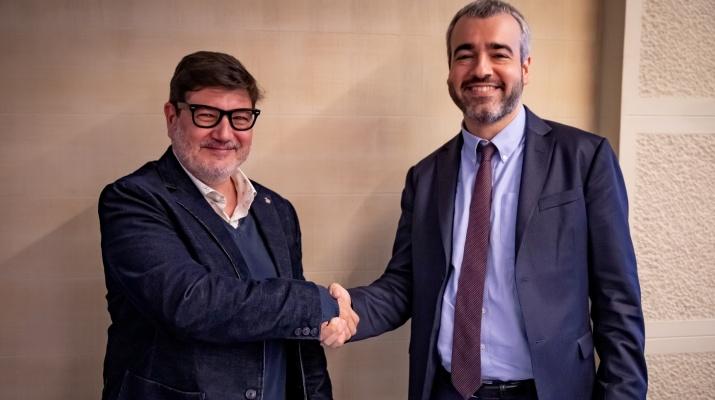 Reunió entre l'alcalde del Prat i el president d'AENA