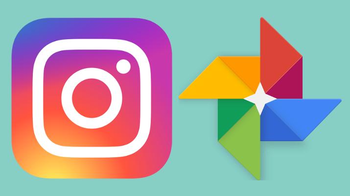 log instagram i google photos