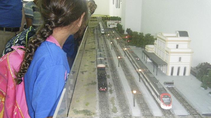 Maqueta El pas del tren pel Prat