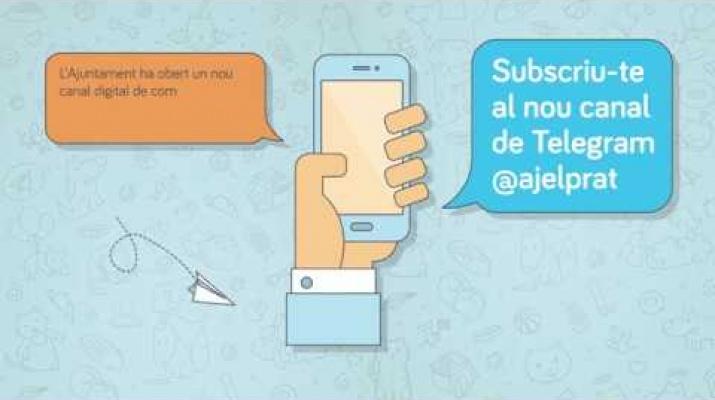 Nou Canal de Telegram de l'Ajuntament del Prat de Llobregat