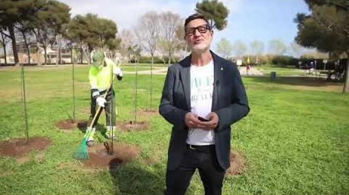 Vídeo bloc de l'alcalde. Plantació ametllers donats per Garrovillas 14/03/2021 #elprat