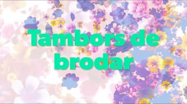 Brodem el mercat! - Videotutorial per fer els tambors de brodar