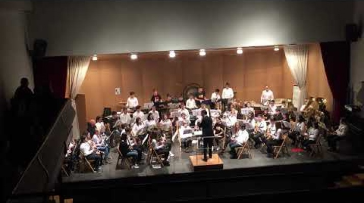 Concert de l'Intercanvi Blue Band i La Banda de l'Escola de Música de la Sénia