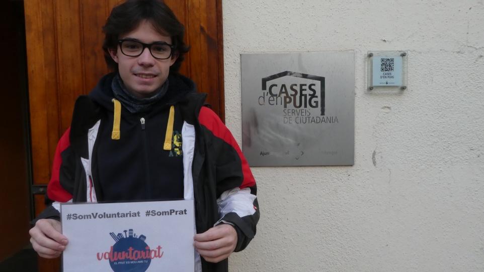 Carlos Sáez, voluntari en 1a persona del Prat