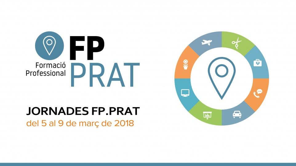 Imatge gràfica de les jornades FP.Prat, 2018