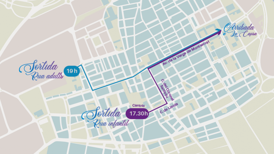 recorregut rues dissabte carnaval 2020