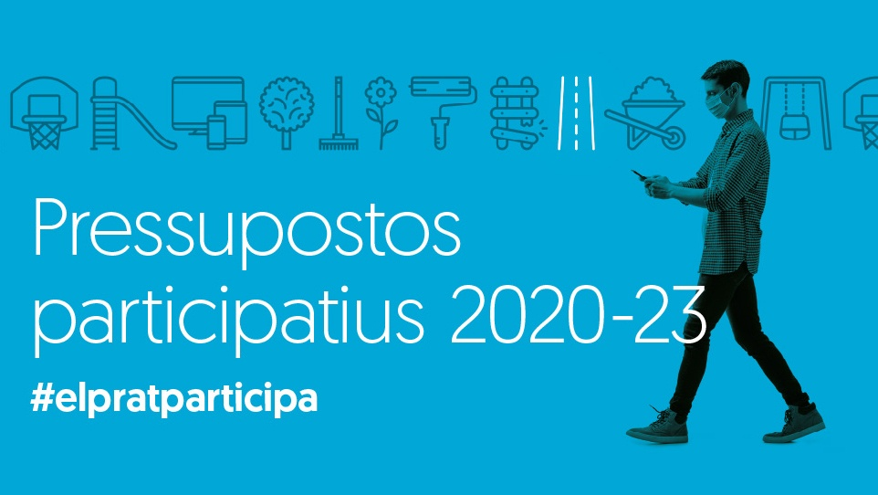 Imatge gràfica dels Pressupostos Participatius 2020 - 2023