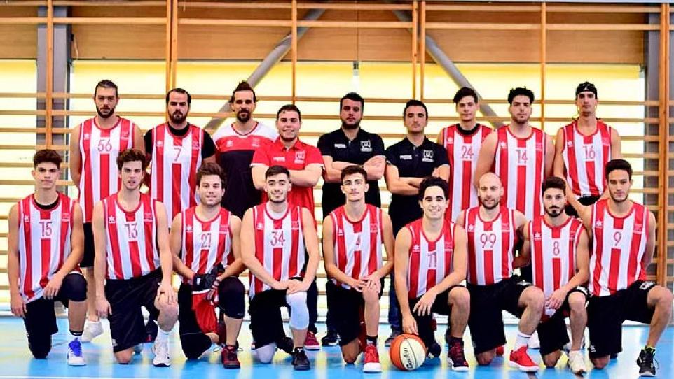 Primer equip masculí sénior de l'AE Bàsquet Pratenc (FOTO: AE Bàsquet Pratenc)