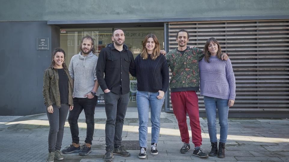 Imatge de l'equip del projecte medi obert amb joves de la ciutat, 2018
