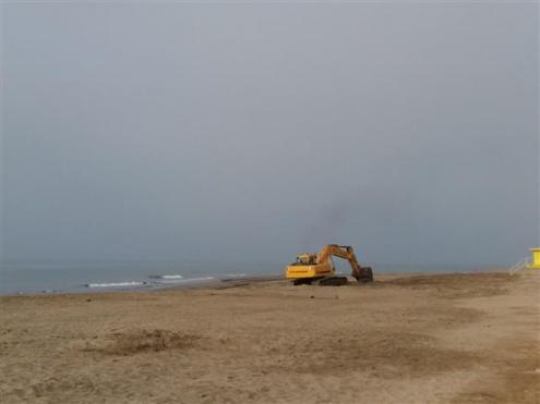 Aportació de sorres a la platja
