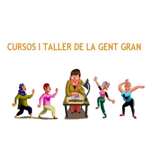 Imatge gràfica dels Cursos i tallers per la gent gran