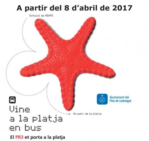 En bus a la platja del Prat.