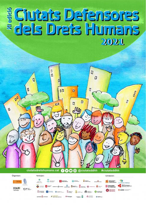 Imatge del cartell de les jornades Ciutats Defensores dels Drets Humans
