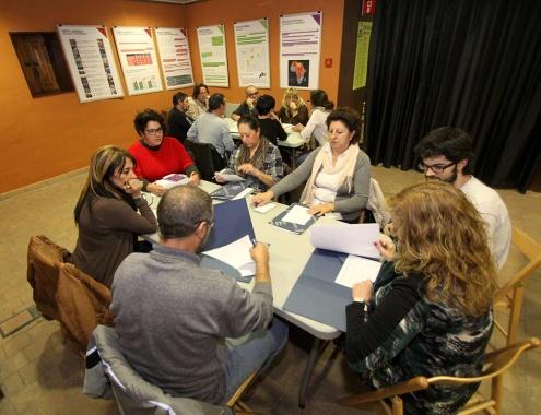 Una sessió de formació a entitats, a les Cases d'en Puig.