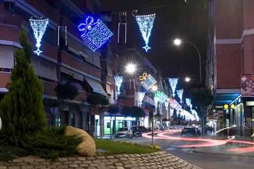 Il·luminació nadalenca de carrers comercials