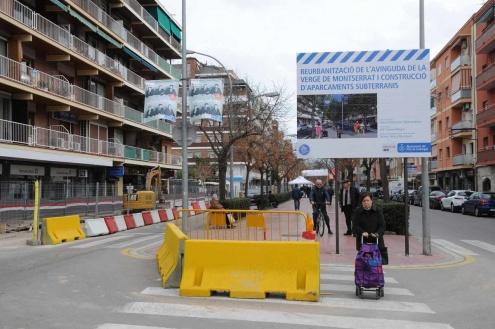 Obres a l'avinguda de la Verge de Montserrat.