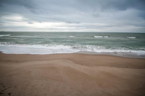 Mar moguda a la platja del Prat