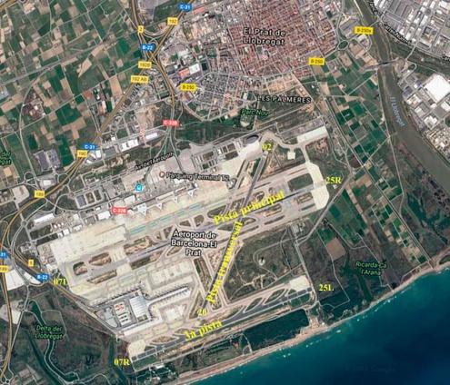 Configuració de les pistes de l'aeroport