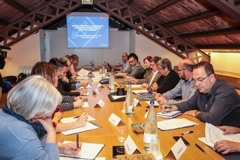 Reunió de la Comissió de Seguiment del Pacte Local per a l'Ocupació i l'Activitat Econòmica del Prat.