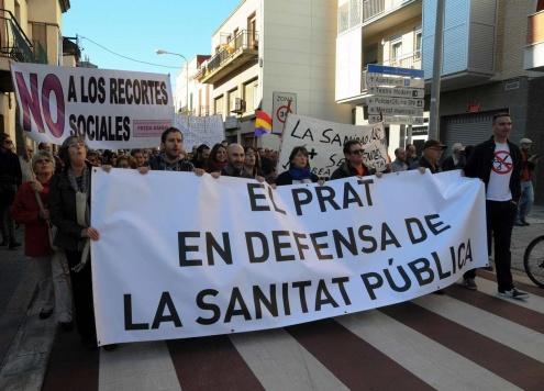 Una de les concentracions realitzades al Prat en defensa de la sanitat pública.