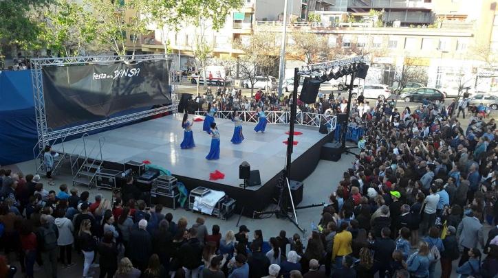 Vista de l'espai de la Festa de la Dansa