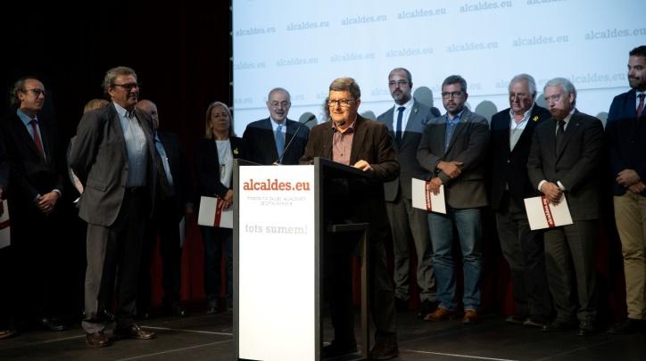 Reconeixement Lluís Tejedor acte Alcaldes.eu