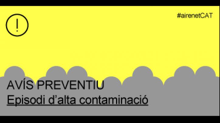 Avís preventiu de contaminació de l'aire