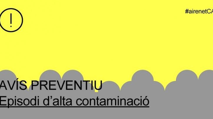 Avís preventiu contaminació aire