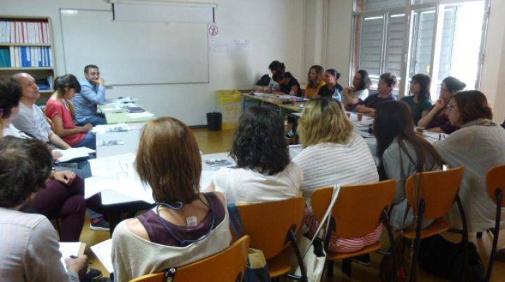 Reunió de la xarxa d'alfabetització del Pla Educatiu d'Entorn de Sant Cosme.