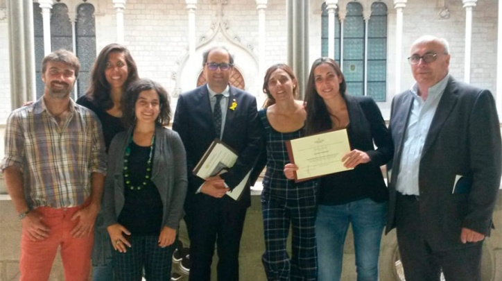 L'equip d'Espigoladors premiat per Medi Ambient.