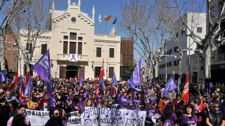 Imatge de la concentració del 8 de març de 2019