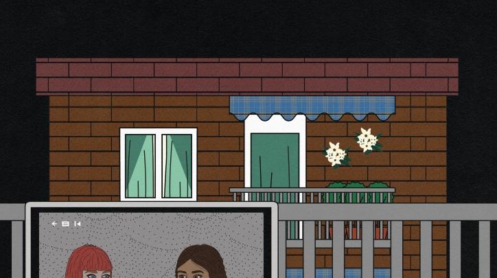 Il·lustració de Sara Cuenca per a la Convocatòria de projectes artístics /Unzip 2021.