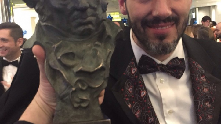 Jaume Martí, amb el Goya.
