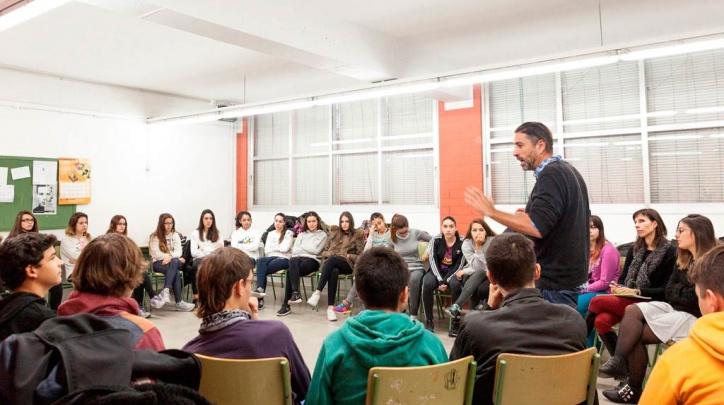 Un taller sobre masculinitats en una escola del Prat.