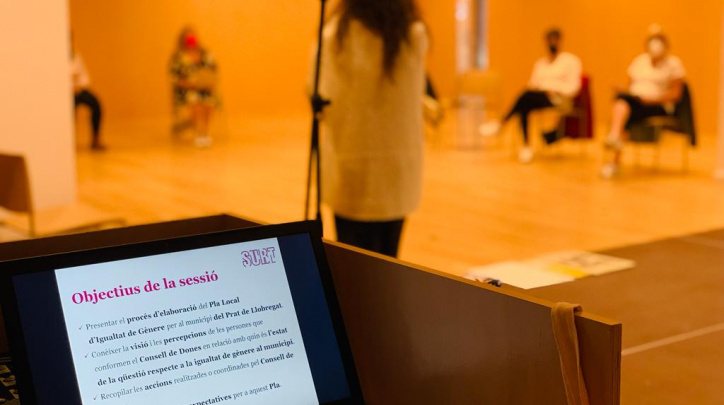 Imatge de la sessió participativa del Pla Igualtat Gènere, 7 d'octubre de 2021