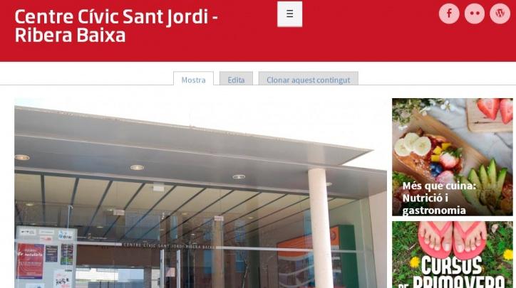 Nova web del Centre Cívic Sant Jordi - Ribera Baixa