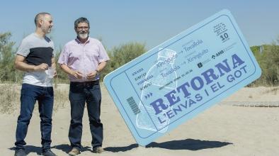 Prova pilot de recollida d'envasos a la platja del Prat