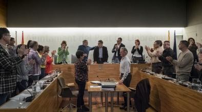 Reconeixement a Lluís Tejedor al seu últim ple com a alcalde (8 de maig de 2019)