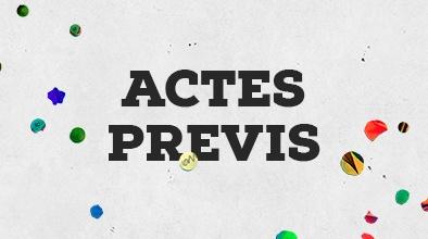 Actes previs