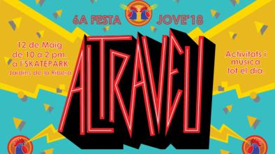 Cartell del Festival musical i artístic Altraveu organitzat pels joves del Prat en col·laboració amb l'Ajuntament
