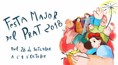 Cartell de la Festa Major del Prat 2018, amb una imatge de la pratenca Cristina BanBan