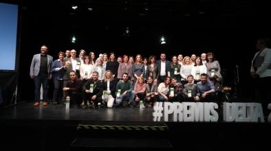 Foto de grup Lliurament Premis Delta (4 d'abril 2019)