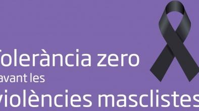 Lona Tolerància Zero contra les violències masclistes