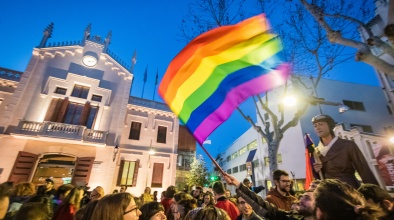 Concentració contra la LGTBI-Fòbia al Prat el 5 de març de 2019