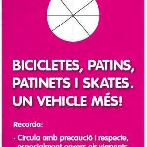"""Imatge gràfica de la campanya """"Bicicletes, patins, patinets i skates, un vehicle més! 2013"""